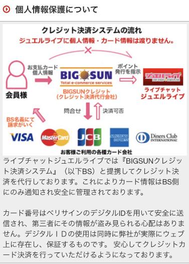 ジュエルクレジットカード安全性表